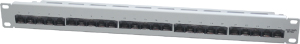 ISDN Patchpanel, 25xRJ45,19 1HE, RAL7035, UTP 3-6, 4-5