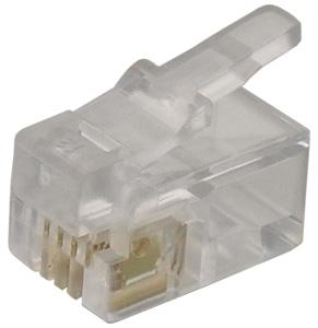 Modular Plug RJ10 Flat Cable,4P4C  Unshielded
