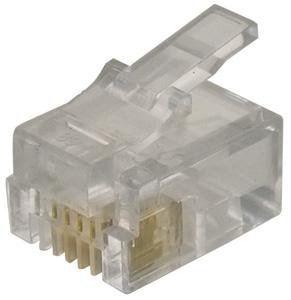 Modular Plug RJ11 Flat Cable,6P4C  Unshielded