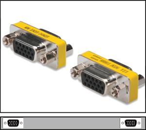 Mini Gender Chan.HD15BUBU,HD DSUB 15-pin BUCHSE-BUCHSE