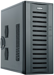 PC Geh�use Midi Tower Ohne NT.,schwarz,USB 3.0,Audio