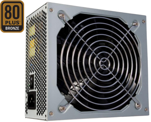 Power Supply  500W ATX12V 2.3,80 Plus Bronze, 140mm L�fter