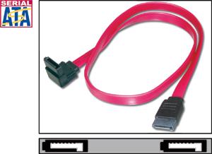 SATA Kabel   0,30m,Anschlusskabel left angled