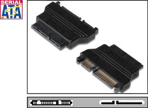 Adapter Micro SATA - SATA,Micro SATA 16pin  SATA 22pin