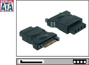 DELOCK Adapter Power SATA 15Pin St-> IDE-Laufw.