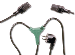 Power C.Y Schuko - 2xIEC C13,M/F1.70m, H05VVF3G,1.00qmm