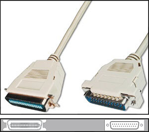 Printer cable parallel  1,8m,DSUB25 ST.CENT36 ST.