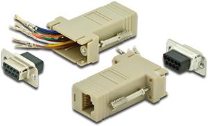 Modular Adapter DS09BURJ45,D-Sub Buchse   09pol.  RJ45