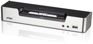 KVM SWITCH 2 Port USB Audio,DVI Dual View Switch