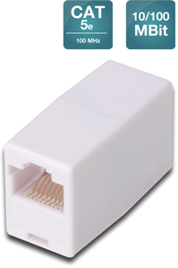 Modular coupler 1-1 RJ45 Cat5e,1xRJ45 to1x RJ45 unshielded
