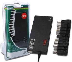 Noteb. Power Adap. AC/DC   90W,LED Anzeige, inkl. 11 Adapter