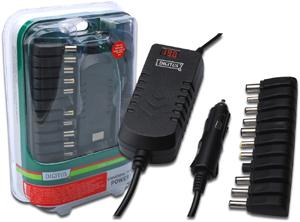Noteb. Power Adap. DC/DC  90W,KFZ Anschluss,inkl. 11 Adapter