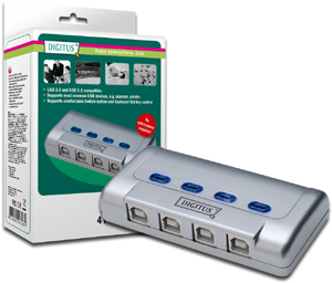 USB Sharing Switch  4E1A,4 PCs-1 USB Endgerät USB 2.0