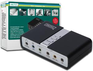 USB Sound Box 7.1,Anschluss �ber 3,5mm Buchsen
