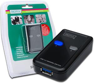USB Sharing Switch  2E1A,2 PCs-1 USB Endger�t USB 3.0