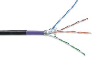 Verlegekabel CAT.7  S/FTP1000m,4x2xAWG23/1, LSOH, OUTDOOR