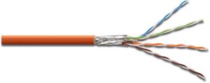 Verlegekabel CAT.7  S/FTP PIMF,4x2xAWG23/1, LSOH-3, 1000m