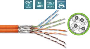 Verlegekabel CAT.7  S/FTP DUP.,2x4x2xAWG23/1, LSOH-3, 500m