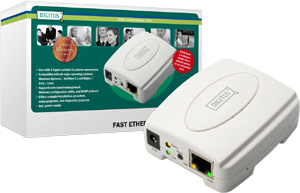 Printserver 1Port USB 2.0,10/100MB, 1xRJ451xUSB