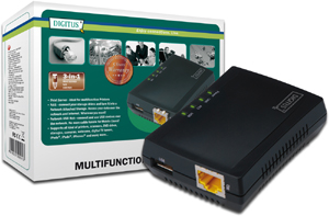 Multifunction Net.Server 1Port,USB HUB+NAS+Printserver+RJ45