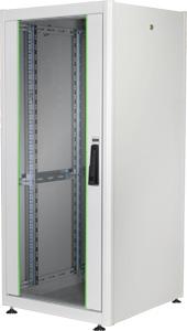 19 Schrank 22HE Glastür Grau,H 1125 x B 600 x T 600 mm