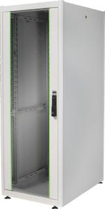 19\ Schrank 32HE Glast�r,H1560 x B600 x T800mm,RAL7035