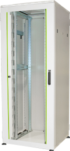 19 Schrank 42HE Glast�r,H2005 x B800 x T800mm, RAL7035
