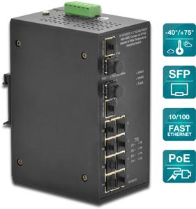 Industrie FE PoE Switch    8+2,8x10/100, 2x SFP GE