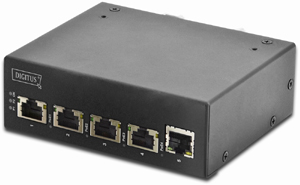 Industrie GE PoE Switch   4+1,4x10/100/1000, 1Gb Uplink