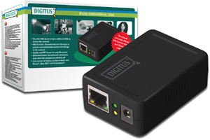 DIGITUS Mini NAS Server fuer USB2.0 HDD 1xUSB2.0 1xRJ45 bis 1,5TB Samba und FTP Server
