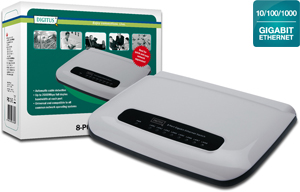 Desktop Switch, 8x10/100/1000T,N-Way, Auto-Negotiation