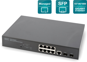 Desktop Switch,Gigabit 8 port,8-port + 2 shared SFP ports