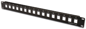 Patchpanel Modular 16port 1HE,19 1HE, RAL9005, unshielded
