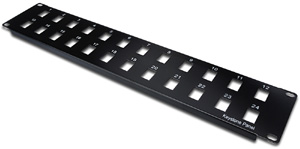 Patchpanel Modular 24port 2HE,19 2HE, RAL9005 unshielded