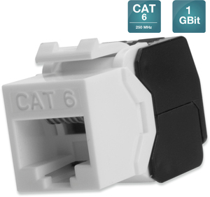Keystone Jack CAT.6  RJ45 UTP,Toolless, De-Embedded
