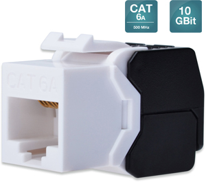 Keystone Jack CAT.6a RJ45 UTP,Toolless, De-Embedded