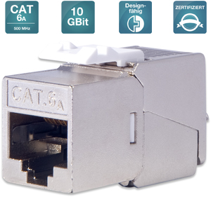 Keystone Jack CAT.6a RJ45 STP,Toolless,Re-Embedded,Set=24St.