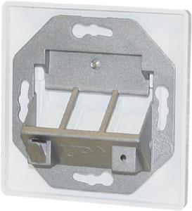 Keystone Jack Rahmen 3 port,Reinwei�, 80x80,45Grad