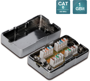 Anschlussbox Cat6 LSA,LSA, shielded, CAT 6