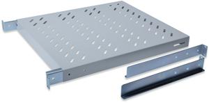 Fachboden 1HE T  345mm Grau,für 600mm Schränke, max. 50kg