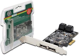 PCI Express SATA2 Controller,4x SATA Intern. 2x eSATA Ext.