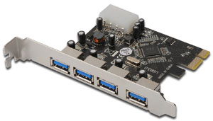 PCI Express USB 3.0  4 Port,4 x USB 3.0, VL800 Chipsatz
