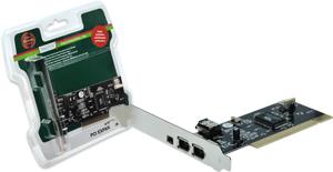 IEEE1394 Karte  PCI 3E/1I,2xEXT.6Pin + 1x4Pin, 1xINTERN