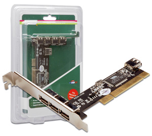 USB 2.0 PCI AddOn Card 4 Port,VIA Basesed Chipset 1xINT
