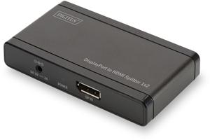 DP auf HDMI Splitter 2-Port,4K,Aufl.max.4096x2160, Deep Color