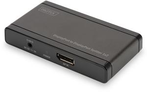DP Splitter 2-Port, 4K,Aufl.max.4096x2160, Deep Color