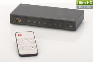 HDMI Switch 5-Port, 4K,4096x2160, inkl. Fernbedienung