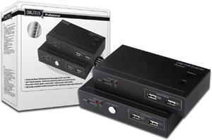 Extender KVM Kit 200m,über Cat.5, USB Anschluss