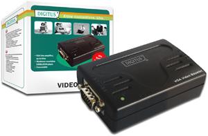 VGA Signalverst�rker bis  65m,Videobandbreite 300 MHZ
