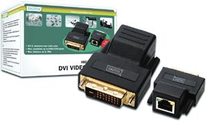 DVI Video Extender Cat5,bis 50m, 1920x1200 bei 60Hz